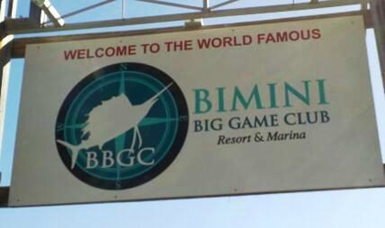 Bimini Big Game Resort and Marina: Signs to the fishing docks
