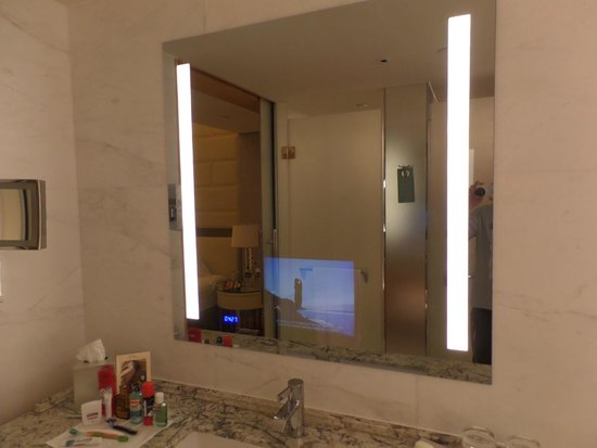 TV built into bathroom mirror - Picture of Jing An Shangri-La, West ...