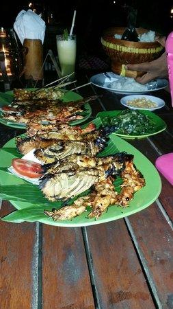 Teba Cafe Jimbaran: The seafood platter for 2