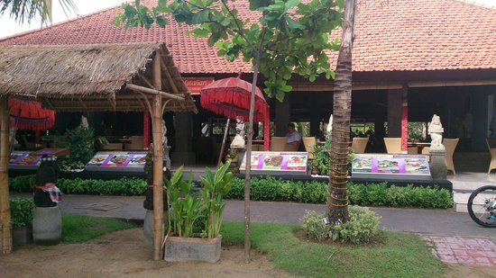 Inna Sindhu Beach: From beach looking back at dining