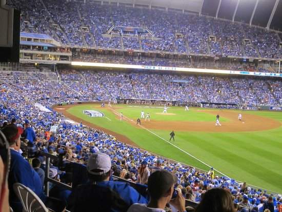 Kauffman Stadium View From 2 Rows Deep Standing Room Only