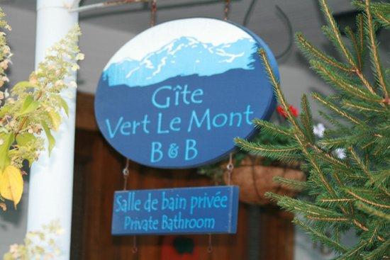 B&B Vert Le Mont: Front entrance