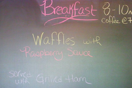 Lake George Bed and Breakfast: sample of breakfast menu...all were so delicious!!
