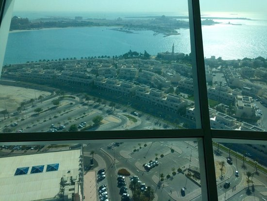 Marina Mall: Вид из кафешки вверху башни