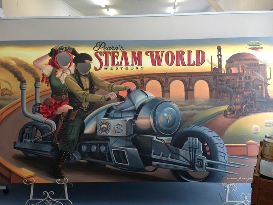 Pearn's Steam World: The new Steampunk faceboard at Pearns Steam World.