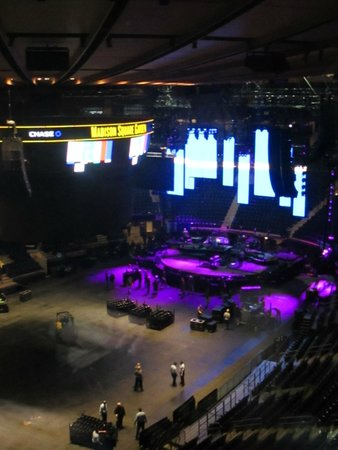 Set up for Billy Joel Concert Picture of Madison Square Garden