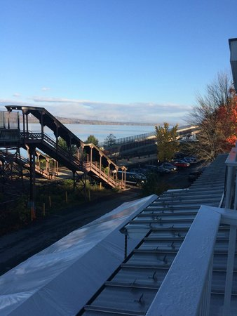 The Rhinecliff: Rhinecliff Station from the Hotel (Catskill Mountains in the distance)