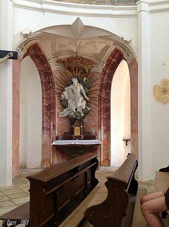 The Pilgrimage Church of St. John of Nepomuk at Zelena Hora: Интерьеры собора