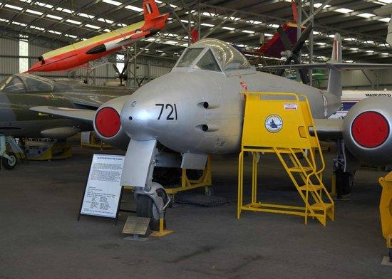 Queensland Air Museum: QAM Meteor (1 of 2) in main hangar