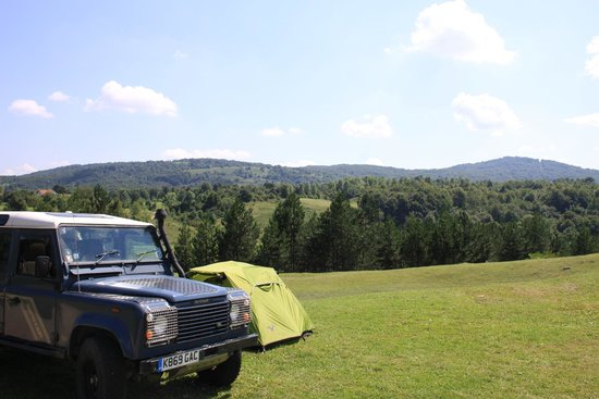 Camping Korana : Pitch with a view