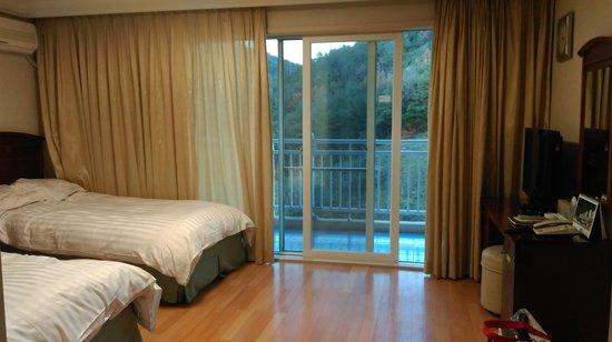 Daemyung Resort Danyang: 雙人房,兩張單人床