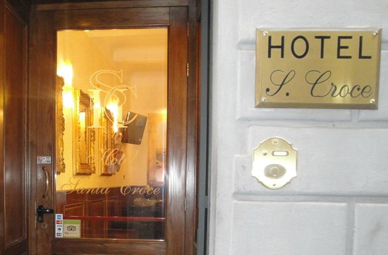 Hotel Santa Croce: Targa Esterna