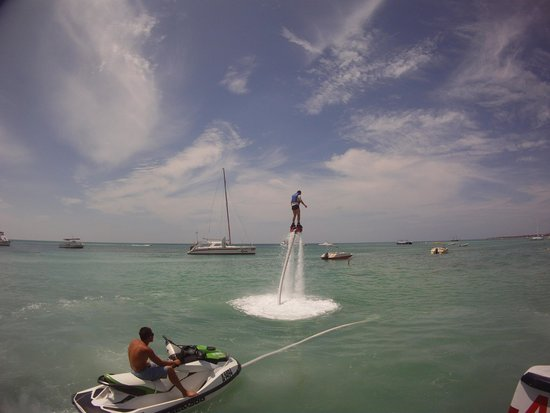 Fly Fishing Aruba Private Tours: fly board 1