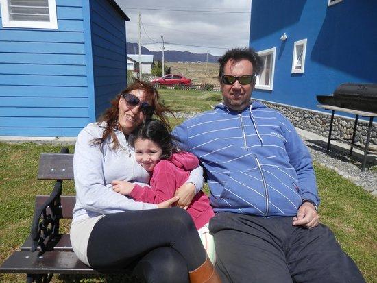 Casa Azul - Familia Patagonica : vista trasera