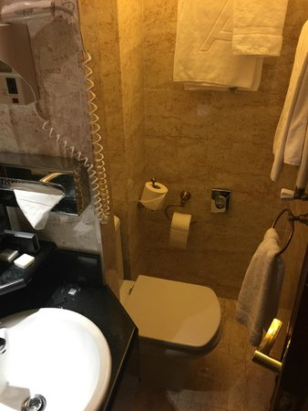 Melia Paris Champs Elysees: Incredibly small bathroom