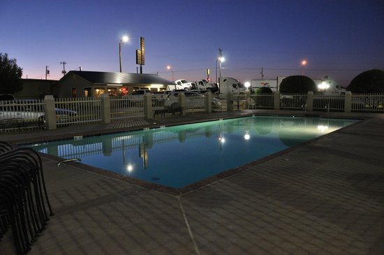 Best Western Inn Of Mcalester: This view of the pool looks toward truck parking.