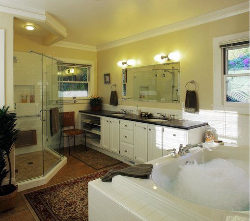 The Brick Path Guest Suites: Remodeled Master bathroom