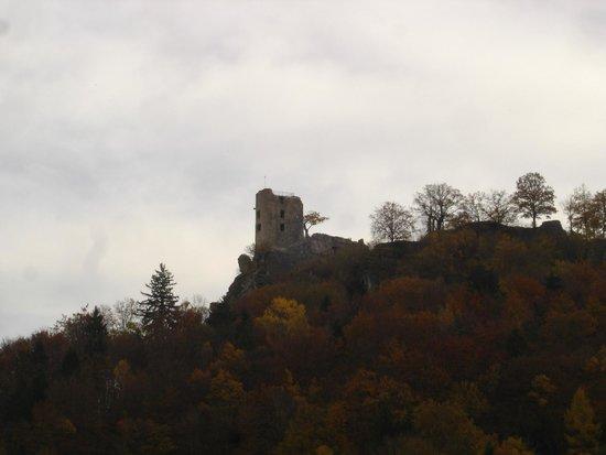 Burgruine Neideck: Von Norden im Herbst