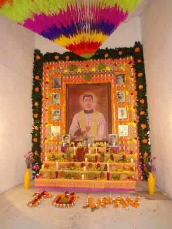 Naolinco: Uno de los altares