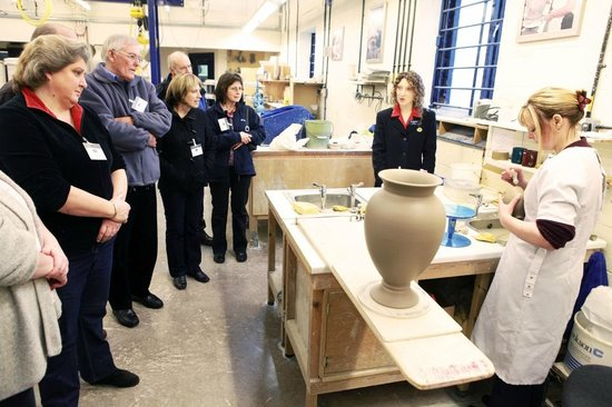Moorcroft : Guests enjoying a guided factory tour