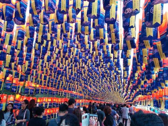Jinjuseong: Jinju durante el festival de lámparas