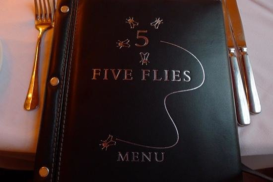 The Five Flies Restaurant & Bars: meny