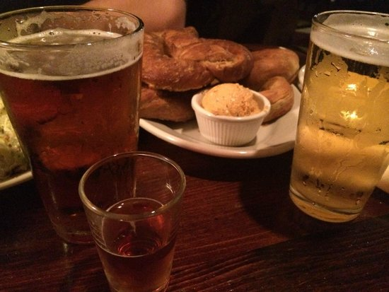 Beaver Street Brewery : Beers and pretzels - can't go wrong!
