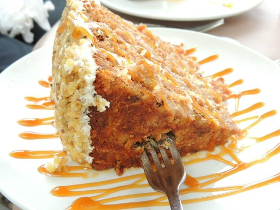 Blue Goose Cafe: OMG the Carrot Cake is DELISH and HUGE!!!!