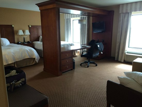 Hampton Inn & Suites Detroit/Chesterfield Township: view from entrance to room
