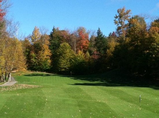 Green Mountain National Golf Course: Don't let the tee shot on Hole #10 scare you... it's all downhill!