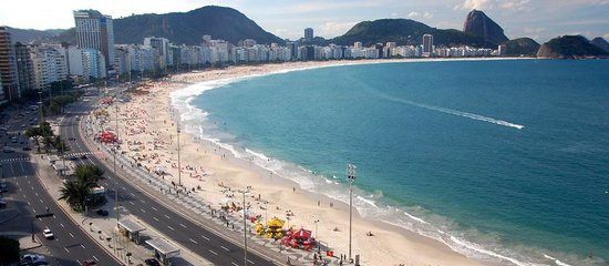 Rio Guest House ( Marta's Guest House): View of Copacabana from our terrace
