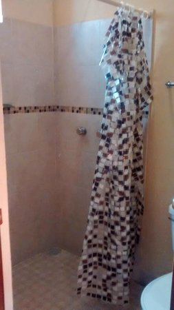Azul Cielo Hostel: El baño privado, súper limpio y muy bonito.