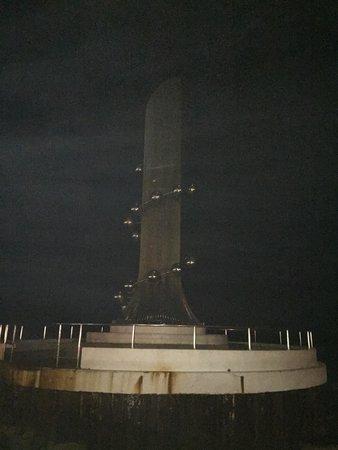 Tsunami Monument: In the dark