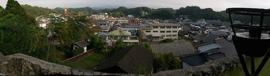 Chikuden Saryo: View of the town from dining room