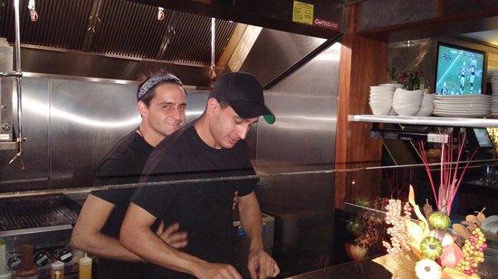 Chefs en cuisine - Picture of The Trophy Room, Boston - TripAdvisor