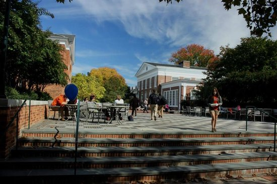 University of Virginia : the campus at lunchtime