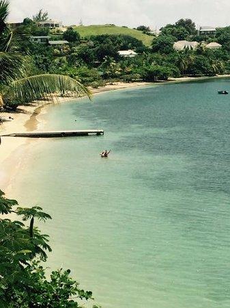 Calabash Luxury Boutique Hotel & Spa : enjoying the beautiful beach