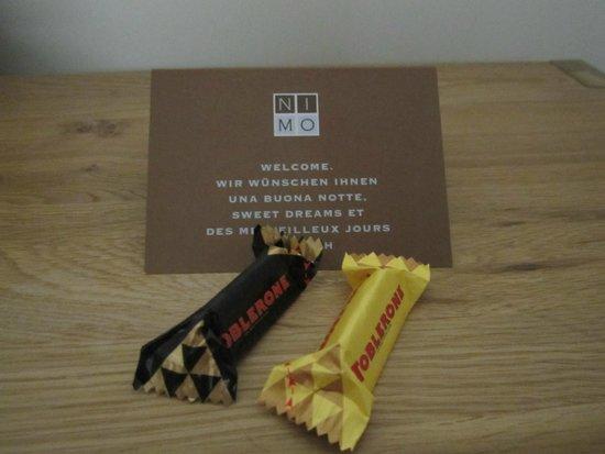 Hotel NI-MO: Swiss chocolate at turndown