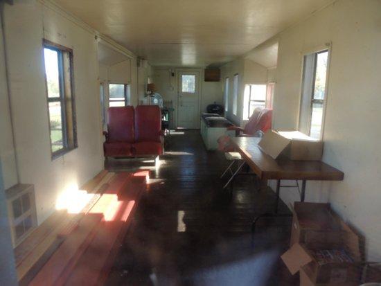 Cowan, TN: inside caboose