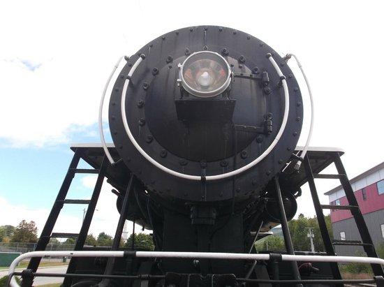 Gorham Historical Society & Railroad Museum: Vintage steam locomotive, circa. 1920