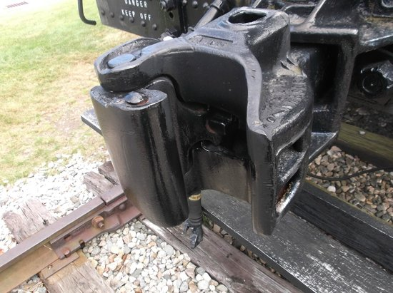 Gorham Historical Society & Railroad Museum : Heavy duty coupler.