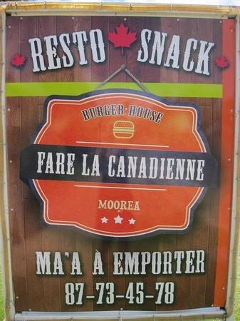 Fare La Canadienne : Affiche