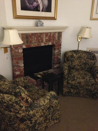 Inn at Occidental : bedroom gas fireplace