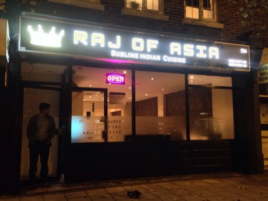 Raj of Asia: Front of shop