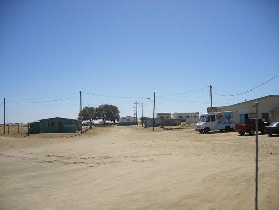 Baja Bocana B&B: Driving into town from Abrejos
