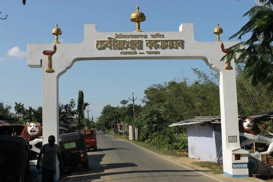 Dhekiakhowa Barnamghar: Main entrance