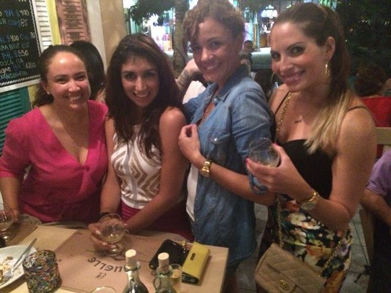 El Muelle Restaurant : Friends at El Muelle, Playa Del Carmen