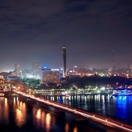 InterContinental Cairo Semiramis: The photo I took for the view over the Nile river