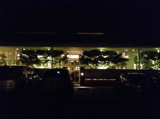 PRESS St. Helena: Entrance at night