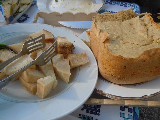 Convivio Rome - Olive Oil Tour : Sampling local pecorino cheeses after an olive oil tour